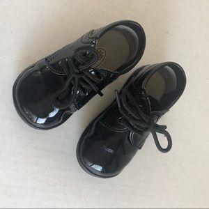 Boys Patent Leather Dress Up Shoes Black Size 4